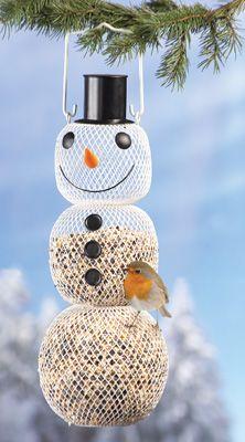 Metal Snowman Bird Feeder Decoration                                       (  I've got one & love it )