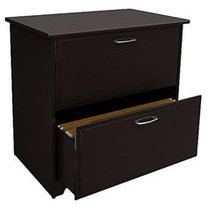 Home Office -- Bush Cabot Lateral Filing Cabinet - Wood File Cabinets at Hayneedle