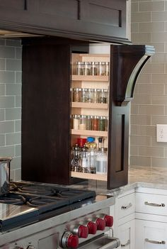Fabulous way to store and gives easy access when you need your spices!