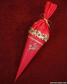 """""""This traditional German craft may look like a big piping bag, but it's a gift cone filled with presents and candies for any special occasion."""""""