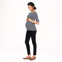 Maternity toothpick jean in black