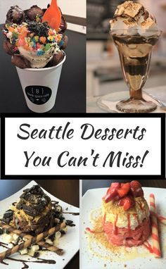 3 amazing desserts you have to try in Seattle, WA Seattle Vacation, Seattle Travel, Moving To Seattle, Seattle Weekend, Weekend Trips, Vacation Spots, Vacation Ideas, Washington State, Seattle Washington