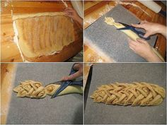 21 obrázkových trikov s cestom, vďaka ktorým bude aj pečenie zábavou Bread Shaping, Bread Art, Braided Bread, Our Daily Bread, Bread And Pastries, Food Decoration, Sweet Bread, Creative Food, Food Photo