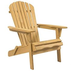 Outdoor Adirondack Wood Chair Foldable Patio Lawn Deck Garden Furniture *** Continue to the product at the image link.