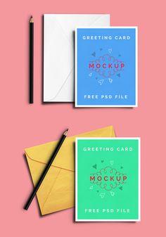 Free Greeting Card Psd Mockup
