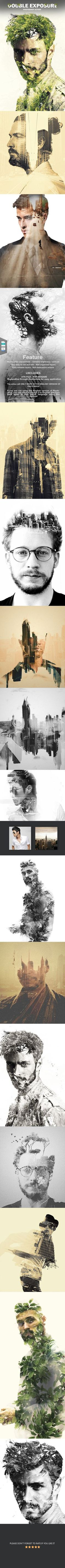Double Exposure Photoshop Action - Photoshop Add-ons