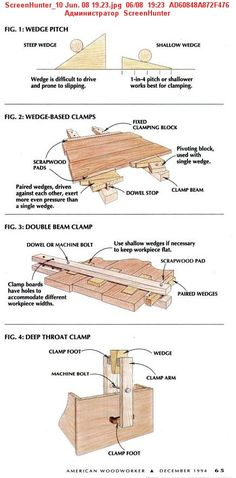 Grampos de madeira DIY para emenda de tábuas