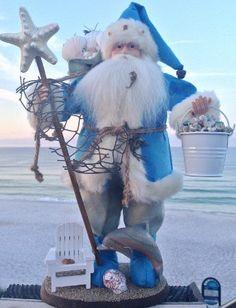 Beach Day [SA134] - $94.95 : Chesapeake Bay Christmas Company, Unique, handcrafted Santas, handpainted ornaments & home decor