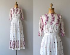 Laviroi dress | antique 1910s dress | Edwardian embroidered dress