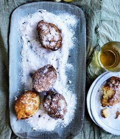 Lemon custard fritters recipe :: Gourmet Traveller