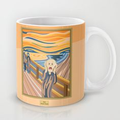 It's Monday ... Have some coffee and scream!!! :)  The Scream by Munch Mug by Alapapaju - $15.00