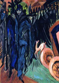 Ernst Ludwig Kirchner, Friedrichstrasse (Berlin), 1914
