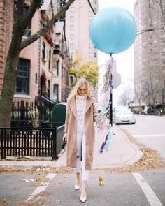 Giant Teal Balloon & Tassel