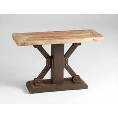 Check out the Cyan Design 05053 Kern Table in Raw Iron/Natural Wood