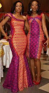 Various Ankara/Kente Styles & Dresses .I want the dress on the left so bad! African Print Dresses, African Fashion Dresses, African Dress, Fashion Outfits, African Prints, Ankara Fashion, African Fabric, African Outfits, Fashion Styles