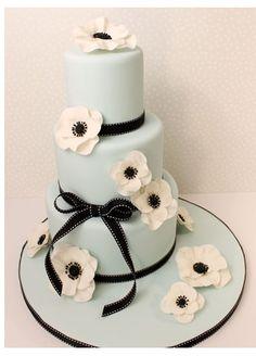 Cakebox Blue Anemone Cake