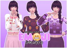HikariiChaan Simblr ♥☺️ Emoji Sweaters by HikariiChaan | Sims 4 Updates -♦- Sims Finds & Sims Must Haves -♦- Free Sims Downloads