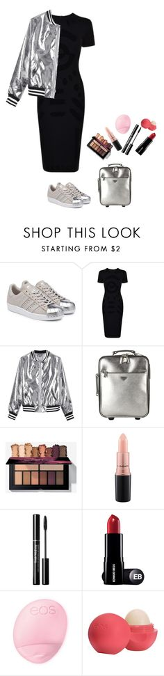 """""""Untitled #283"""" by crusvartex ❤ liked on Polyvore featuring adidas Originals, McQ by Alexander McQueen, Sans Souci, Prada, MAC Cosmetics and Eos"""