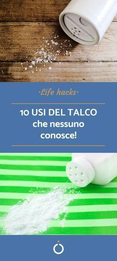 10 usi del talco che non conoscevi Use talc to clean the house, tricks to clean the thing that will surprise you! Chanel Makeup Bag, Sr1, Ideas Para Organizar, Flylady, Green Life, Home Hacks, Things To Know, Healthy Tips, Clean House