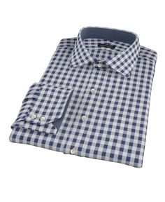 Navy Blue Large Gingham by Proper Cloth