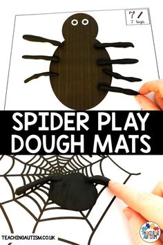 Are you looking for engaging spider activities for kids? Do your kids love to play with play dough? If so, these math spider play dough mats are perfect for working on counting and fine motor skills. Autism Teaching, Autism Classroom, Special Education Classroom, Teaching Kindergarten, Classroom Resources, Teaching Resources, Sensory Activities, Hands On Activities, Learning Activities