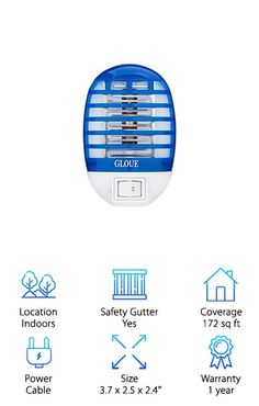 96a65460f85  GLOUE Indoor Bug Zapper  Features of GLOUE Indoor Bug Zapper  Insect  disposal is