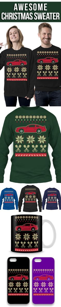 Ford Mustang Ugly Christmas Sweater! Click The Image To Buy It Now or Tag Someone You Want To Buy This For. #fordmustang