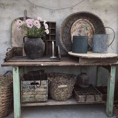 Growing Gardens, Lean To, Bench With Storage, Wabi Sabi, Country Decor, Entryway Tables, Pergola, Shabby Chic, Rustic