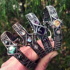Draht gewickelt Amethyst Armband in Antik Sterling Silber Sea Glass Jewelry, Copper Jewelry, Wire Jewelry, Jewelery, Handmade Jewelry, Gemstone Jewelry, Moonstone Jewelry, Jewelry Armoire, Gothic Jewelry