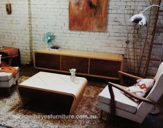 Coffee table and console retro style