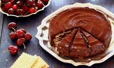 Tort de biscuiți și ciocolată (fără coacere) – pentru simplul răsfăț al celor dragi! Dessert Recipes, Desserts, Cookies Et Biscuits, Coco, Caramel, Pudding, Baking, Ajouter, Chiffon Cake