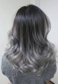 Image result for gunmetal grey ombre balayage