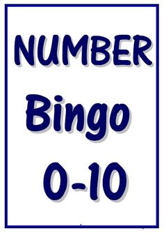 0-10 Number Bingo - Easy to make bingo game. Play with whole class or in small groups. 24 bingo cards. Just print, laminate (optional) and cut. Easy to store in a zip lock bag. No colour printing required.