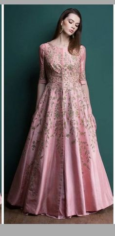 Haute spot for Indian Outfits. Indian Gowns, Indian Attire, Pakistani Dresses, Indian Wear, Indian Outfits, Anarkali Dress, Red Lehenga, Long Anarkali, Look Short