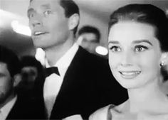 Audrey Hepburn and Mel Ferrer arriving at the premiere of her new movie The Nun's Story at the Zurich Cinema in Switzerland, September 2, 1959. gifs by rareaudreyhepburn