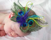 Beautiful Peacock Butterfly Feather Hair Clip Piece Headband Fascinator Photography Prop      http://www.etsy.com/shop/kailanisbowtique