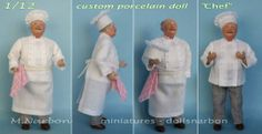 """""""old Chef"""" custom doll made by Maria Narbon"""