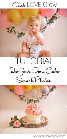 Take Your Own Cake Smash Photos. What better way to celebrate your baby's first birthday than with a fun cake smash photo session! Baby Cake Smash, 1st Birthday Cake Smash, Baby Girl First Birthday, Birthday Cake Girls, Cake Smash Cakes, Birthday Ideas, Geek Birthday, First Birthday Photos, Diy Birthday