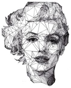 Marilyn Monroe - [Pen] / Josh Bryan #drawing #monroe #connect #dots #drawing #portrait by gülii
