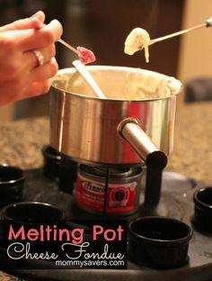 Melting Pot Cheese Fondue Recipe Copycat - YUM!