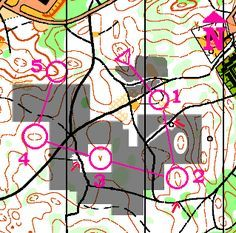A Real Orienteering map with compass training course