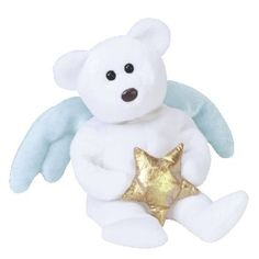 STAR the angel bear (holding gold star) ty beanie baby Beanie Baby Bears 525f1a9e648e