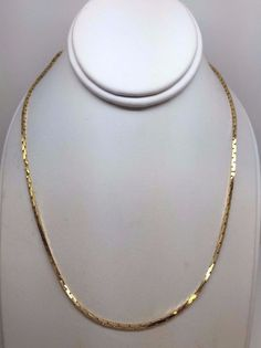 """14K YELLOW GOLD 1.25 MM SERPENTINE 17"""" CHAIN NECKLACE 7.8 GRAMS #Chain"""