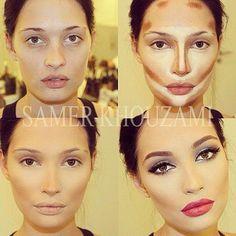 Forma de aplicar el corrector para resaltar partes del rostro