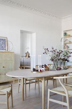 Ikea Stockholm, Stockholm 2017, Ikea Dining Table, Light Wooden Floor, Slow Design, Mediterranean Decor, Dining Room Inspiration, Modern Kitchen Design, Simple House