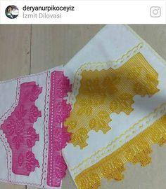 Kenar Dantelli Örnekler Baby Knitting Patterns, Crochet Stitches, Napkins, Tableware, Crochet Dishcloths, Bath Linens, Dish Towels, Crochet Bow Ties, Crochet Motif