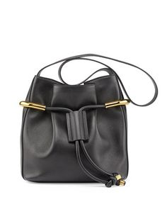 Emma Small Drawstring Shoulder Bag, Black by Chloe at Neiman Marcus. $1890