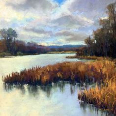 """Marsh Light"" by Takeyce Walter 9x9"" 