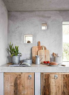 This rustic Cornish house may be made of concrete and reclaimed wood, but it's also full of inspiring ideas, plush materials and back-to-nature textures. Creative DIY Rustic Kitchen plans to consider for your home
