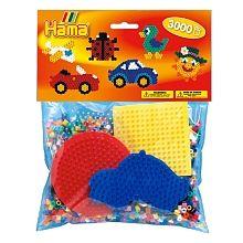 HAMA - Bügelperlen: Beutel, 3000 Stück Craft Kits, Hama Beads, Bead Crafts, Children, Kids, Lunch Box, Pose, Colours, Creative